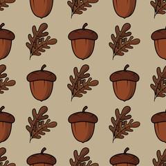 Acorn seamless pattern