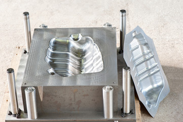 Industrial metal mold with ready iron form/matrix.
