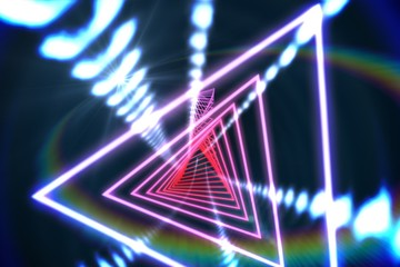 Triangle design with glowing light