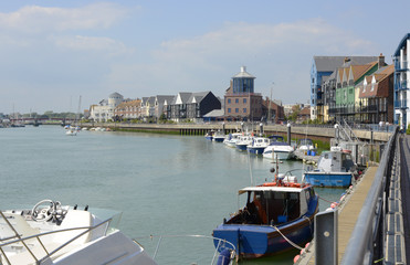 River Arun at Littlehampton. Sussex. England