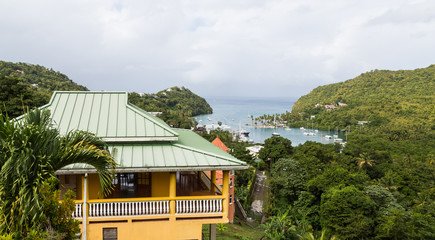 Building Overlooking Marigot Bay