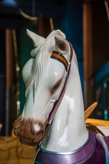 Head of White Horse from Carousel
