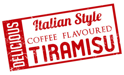 coffee flavoured tiramisu stamp