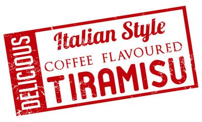 coffee flavoured tiramisu stamp