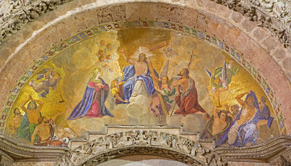 Venice - Jesus the King - mosaic from st. Mark cathedral