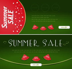 Summer Sale Banners, watermelon style