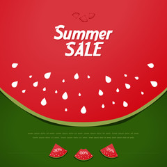 Summer Sale background, watermelon style