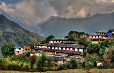 Ghandruk village in Nepal, HDR photography