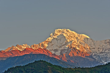 The Annapurna South in Nepal, HDR photography