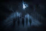Full moon ghosts - 69118420