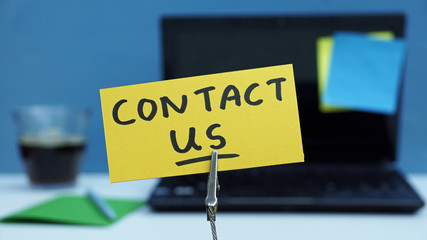 Contact us written