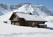 Farm house buried under snow, Melchsee-Frutt, Switzerland