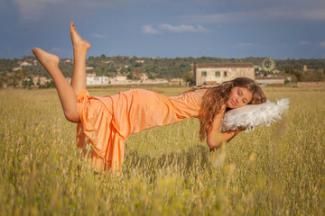 peaceful sleep concept, relaxing vacation,