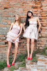 Retro fashion girls