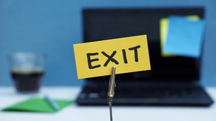 Exit written