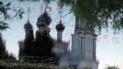 Christianity temple Reflection in water