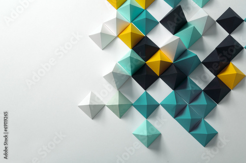 Leinwanddruck Bild Abstract geometric background