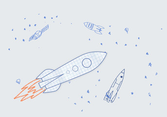 Drawn rocket
