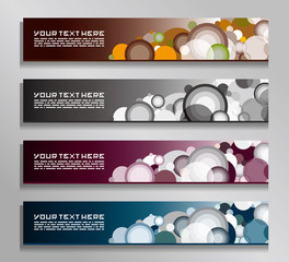 abstract colorful circle banners
