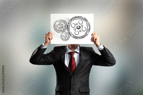 canvas print picture Business structure