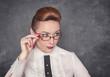 Strict teacher in the glasses
