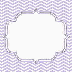 Purple and White Chevron Frame with Embroidery Background