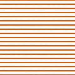 Thin Bright Orange and White Horizontal Striped Textured Fabric