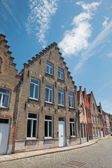 Bruges - Typicaly brick house from Sint Annarei street.