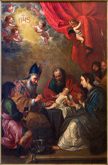 Bruges -  The circumcision in st. Giles church (Sint Gilliskerk)