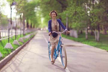 Summer bike girl
