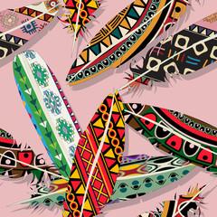 Ikat feather pattern