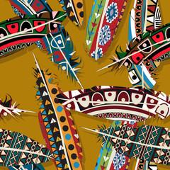 Ikat feather pattern 4