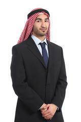 Arab saudi emirates businessman posing serious
