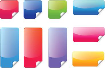 Colorful sticker vector