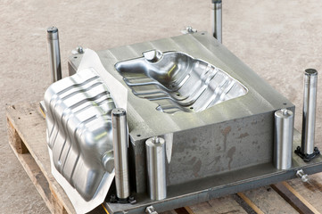 Industrial metal matrix mold with ready iron die/blank.