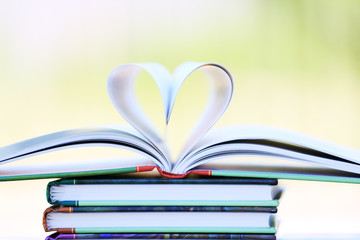 Book page in heart shape