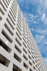 Bruges - concrete facade of modern building