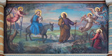 Vienna - Flight of holy family to Egypt in Carmelites church