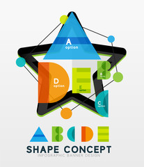 Geometric abstract diagram, presentation design