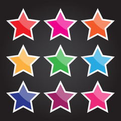 Vector star icon for design and creative work