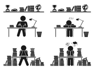 School days. Pictogram icon set. School children.