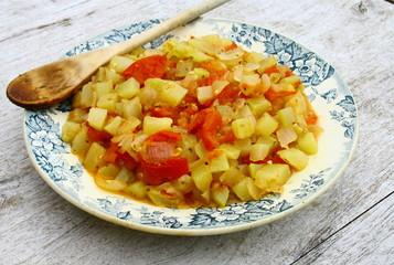ratatouille de courgettes,tomates,oignon