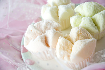 close up sweet color cupcake