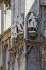 sculpture, facade of the Cathedral of Toledo, Spain