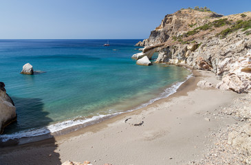 Gerontas beach, Milos island, Cyclades, Greece