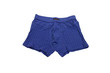 Blue men's briefs (boxers) on a white background