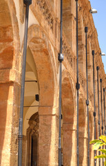 structure with stone arches,Sicily
