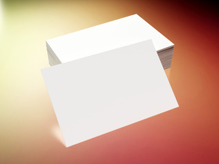 Business cards on a colored background