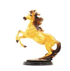 Golden Horse Statue Isolate