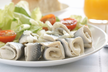 Rollmops or Pickled Herrings